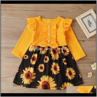 Clothing Baby, & Maternitypretty Princess Sleeve Ruched Bow Patchwork Sunflower Toddler Kids Baby Girls Dresses Children Knee-Length Dress 18