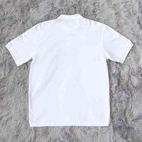 Travis Scott Jack badge tee embroidered cactus short sleeve polo t-shirt