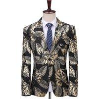 Iwwhacker Single Breasted Men Jacquard Blazer Giacca Masculino Luxury Stage Singer Dress Dent Blazers Homme Abiti da uomo
