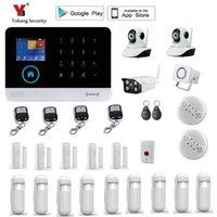 Yobang Security Wireless WiFi GSM-Alarmsystem TFT-Display-Türsensor Home-Systeme Kabel-Sirene-Kit