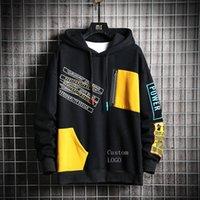 Cris Hoving Men Hoodies Men 2020 Зимний Лоскутная Хип-Хоп Японская уличная одежда Хараджуку Черная Толстовка Мужские Утолщисты