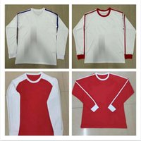Retro-Version Fußball-Jersey Real Madrid Flamengo River Plate Langarm Vollklassische Klassiker Vintage Fußball Hemd Weiß Rot Gelb Schwarz