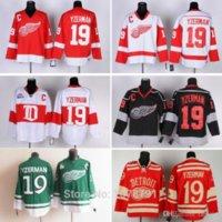 Toptan En Kaliteli # 19 Steve Yzerman Detroit Kırmızı Kanatlar Ucuz Buz Hokeyi Formaları Tüm Dikişli Nakış Logosnames C Yayın