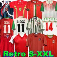 1974 90 92 93 94 95 96 97 98 99 País de Gales Retro Jersey Giggs Bale Hughes Saunders Rush Velocidade Vintage Camisa Futebol Clássica 2015 2014 1990 1992 1994 1995 1982 83 2000 01
