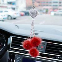 Pompoms Keychain Rainbow Plush Balls Key Chains Decorative Pendant For Women Bag Accessories Keychains Car Fashion Keyring Interior Decorati