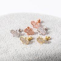 Fashion Gold Plated Designer Custom 925 Sterling Silver Earrings Women Zircon Cactus Stud Earrings DFF3552