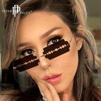 Designer Sonnenbrille Mode Randlose Frauen Persönlichkeit Trend Rasiermesser Klinge Mann Marke Fahren Gläser Oculos de Sol UV400