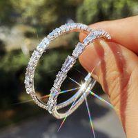 Exaggerated Big Ear Ring woman Earrings Zircon Shiny for women