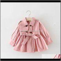 Outwear Baby Clothing Baby, & Maternityspring Autumn Korean Fashion Children Cotton Windbreaker Jacket Kids Girls Trench Coat Outerwear Coats