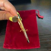 Titan Stahl Nagel Armreif mit Buchstaben Silve Gold Rose Gold Hip Hop Diamonds Armband Für Geschenk Party Hohe Qualität Schmuck
