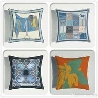 Stile europeo Ultra Soft Velvet Cavalli Bus-lati Stampa di cuscini da stampa Villa Hotel Divano Cuscino Cuscino Cuscino