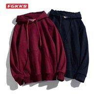 Fgkks jeunes hommes pulls mâle ins normes de la rue coréenne casual Casual Couleur Sweatshirt Sweatshirt Hommes