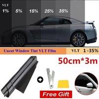 1 Roll 50cm X 3m 1 5 15 25 35 Percent VLT Window Tint Film Glass Sticker Sun Shade Films for Car UV Protector foils