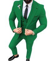 2021 свадьба смокинг изготовлена изготовленная на заказ жениха для стройной подходящего мужского делового платья подходит для вечеринки вечеринки Дата обеда плюс размер 3 набор фото (куртка + жилет + брюки) одна кнопка