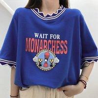 Women's T-Shirt Super Chic Collar Fun Print T Shirts Women Kawaii Clothes Graphic Tee Harajuku Fashion Teens Girls Summer Tops Korean Trend