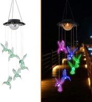 Solarlampen Kolibri Windspiele Farbwechsel Outdoor Geschenke für Mutter Oma Mutter Frauen Geburtstag Weihnachten