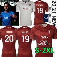 20/21 FC Metz Futebol Jerseys Diallo 20 Centonze 18 Vagner 27 Niane 7 Fofana 2021 Jersey Men Football Shirt