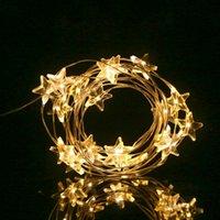 Cordas 2 metros 20 LEDs Star Shape String Light 8 Modos Twistable Fio flexível Bendable para Festival de Natal Decoração de Partido Home