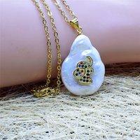 necklace zircon 18mm natural nelace pearl bracelet elephant color zirconium PENDANT HANDMADE diamond Knot Bracelet
