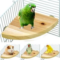 Other Bird Supplies Pet Wood Platform Stand Rack Hamster Parrot Parakeet Rest Holder For Cage Mouth Claw Grinding Toy