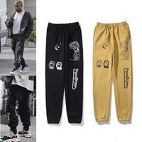 Kanye High Street Pants for Men Reflective Sweatpants Casual Mens Hip Hop Streetwear Camo high-quality With Box