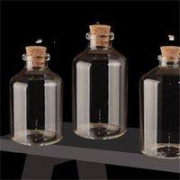 Transparent Glass Bottles with Cork Stopper Empty Spice Bottles Jars Gift Crafts Vials 24pcs 50ml Size 40*63*12.5mm 687 K2