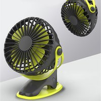 360 Degree All-round Rotation Air Fans gadget Rechargeable 4000mAh Cooler Cooling Mini USBs 4 Speed USB Charging Desktop Clip Fan