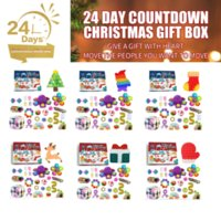 Hot 24pcs Fidget Toys Pack Mystery Box Advent Calendar Surprise Christmas Gift Box Antistress Simple Dimple 2022 Novelty Gifts WHT0228