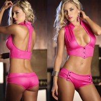 ПУ кожаный лак для лакокрасочные белье нижнее белье равномерное искушение танец для пары горячая девушка секс игры ночной клуб DS одежда