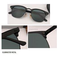 Солнцезащитные очки для мужчин и женщин Полузавесы Рама Металл вождения Солнцезащитные очки 100% УФ блокировка