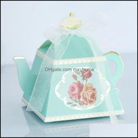 Favor Event Festive Supplies Home & Garden 100 Pcs Royal Teapot Candy Afternoon Tea Gift Box Wedding Party Favors Boxes Drop Delivery 2021 Q