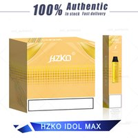 100% autêntico HZKO Idol Max Disable Vape Pen 2000 Puffs Strater Kits 1100mAh 6.5ml 18 cores diferentes