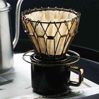 Drohoey القهوة الجريات طوي ذكي فلتر القهوة نمط القهوة مرشح التنقيط كوب المحمولة قابلة لإعادة الاستخدام paperless صب أكثر من 210712
