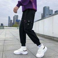 Men's Pants Fashion Men Ankle Tie Drawstring Waist Sports Ninth Trousers Sweatpants Nint