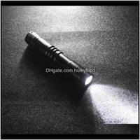 Mini aleación de aluminio de aluminio Luz de antorcha potente con antorcha de bolsillo de clip para buceo Senderismo caza negro luz portátil luz dtwkh linternas a Qamky