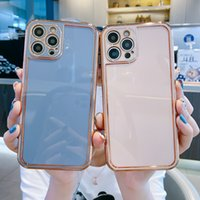 Electroplated Silicone Camera Protector Matte Mobile Phone Cases For Iphone 12 11 Pro Max Cell Back Cover