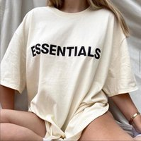 2021 Fashion men shirts Fear of God fog multi thread essentials new silicone letter logo short sleeve cotton Women's T-Shirt