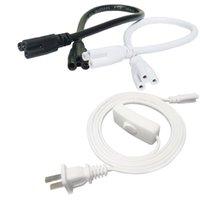 스위치 조명 액세서리 전원 코드 50cm 100cm 200cm 케이블 LED T5 T8 통합 튜브 라이트 와이어 US 플러그