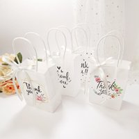Thank You Gift Bag Packaging For Store Clothes With Handles Storage Bags Wedding Candy Favor Party Supplies Handbags Wrap