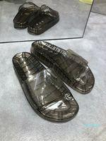 Designer Gloss Swimmingpool Maultier Slide Herren Strand 2021 Transparent Gelee Air Kissen Komfortable Hausschuhe Offene TOE Damen Sandalen Luxus
