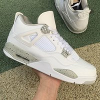 2021 Release 4 White Oreo Männer Basketballschuhe 4s Tech Grau-White Chaussures Trainer Turnschuhe Sportschuh