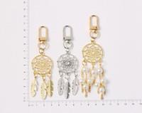 Dreamcatcher перо кисточка имитировала жемчужное брелок для женщин ключевых цепей кольцевой мешок кулон очаровательные подарки CCF7749