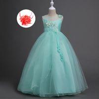 Девушки для девочек для девочек Бальное платье Pageant платье без рукавов милая детская одежда персик мята лаванды дизайнер цветок девушка для свадьбы