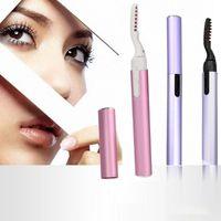 Eyelash Curler Electric Eye Lashes Heated Machine Long Lasting Natural Brush Mascara Makeup Tools Make-up For Women