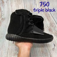 2021 luxo 750 homens sapatos de alta corrida Triple Black OG Gray Gum Fashion Top Mens Designer Sneakers Treinadores US 7-11.5