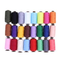 Yarn 24Pcs 1000 Yard Embroidery Machine Sewing Threads Polyester Hand Thread Patch Steering-wheel Supplies