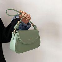 Bolsos de noche Bolso de mujer Novedad Color Puro Pequeño PU Cuero Side Bag 2021 Cadena Diseñador Hombro Bolso de Lujo