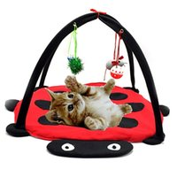 Cat Beds & Furniture Cats Foldable Pet Hammock Soft Cotton Breathable Tent Kitten Playing Toys E2S