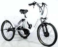 Triciclo elettrico del triciclo elettrico del triciclo elettrico della lega di alluminio da 20 pollici bianchi bianchi Tre ruote Ebike