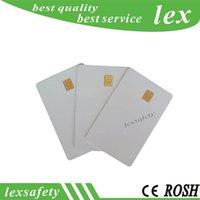 100pcs Sle4442 Petite puce Compatible FM4442 SLE5542 CARD IMPRIMABLE CONTACT 256 OTES ISO7816 Blanc Smart PVC Cartes
